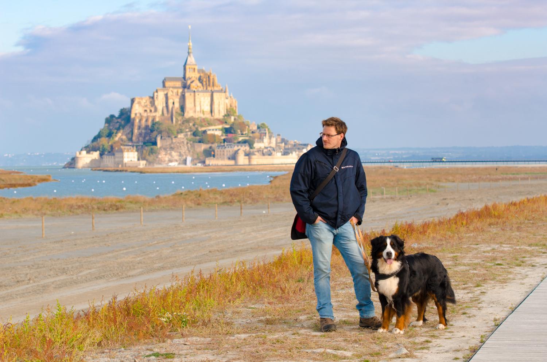 Klosterfelsen mit Panorama-Qualitäten: Schon von weitem ist Le Mont-Saint-Michel ein imposanter Anblick.