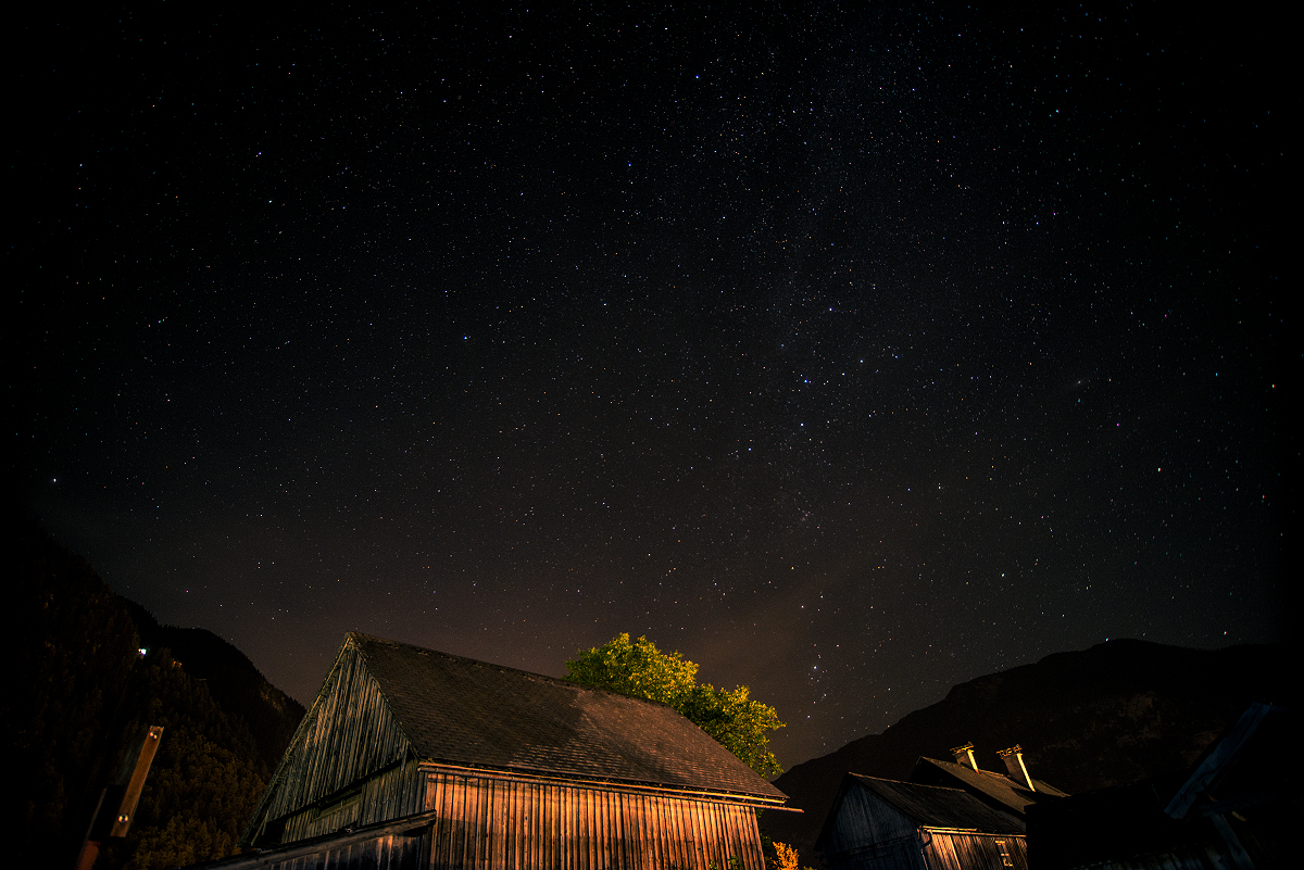 Hallstätter Sternenhimmel - fotografiert vom Campingplatz aus.