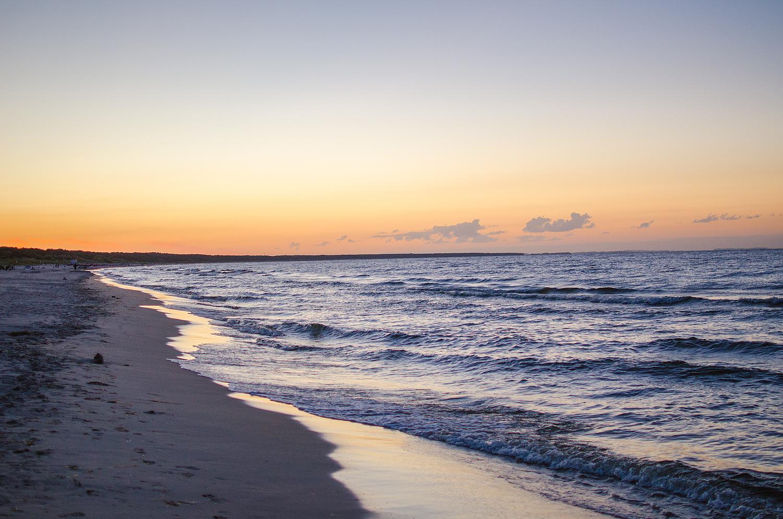 Urlaub an der Ostsee ist immer ein Erlebnis - wunderschöne Sonnenuntergänge inklusive.