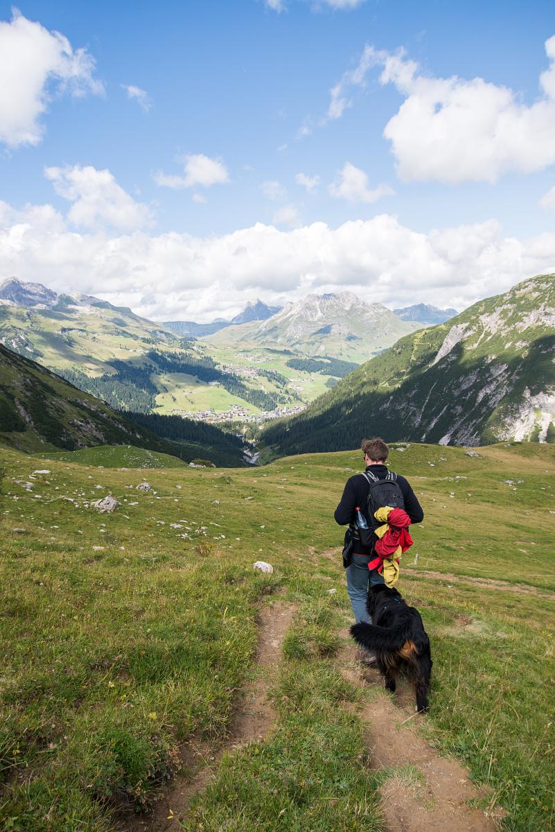 Wandern gehört definitiv zum Österreich-Urlaub dazu - wie hier in Zürs.