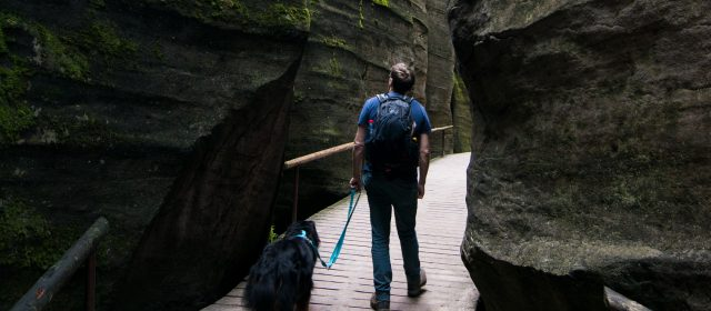 Mit Hund durch Fels und Stein