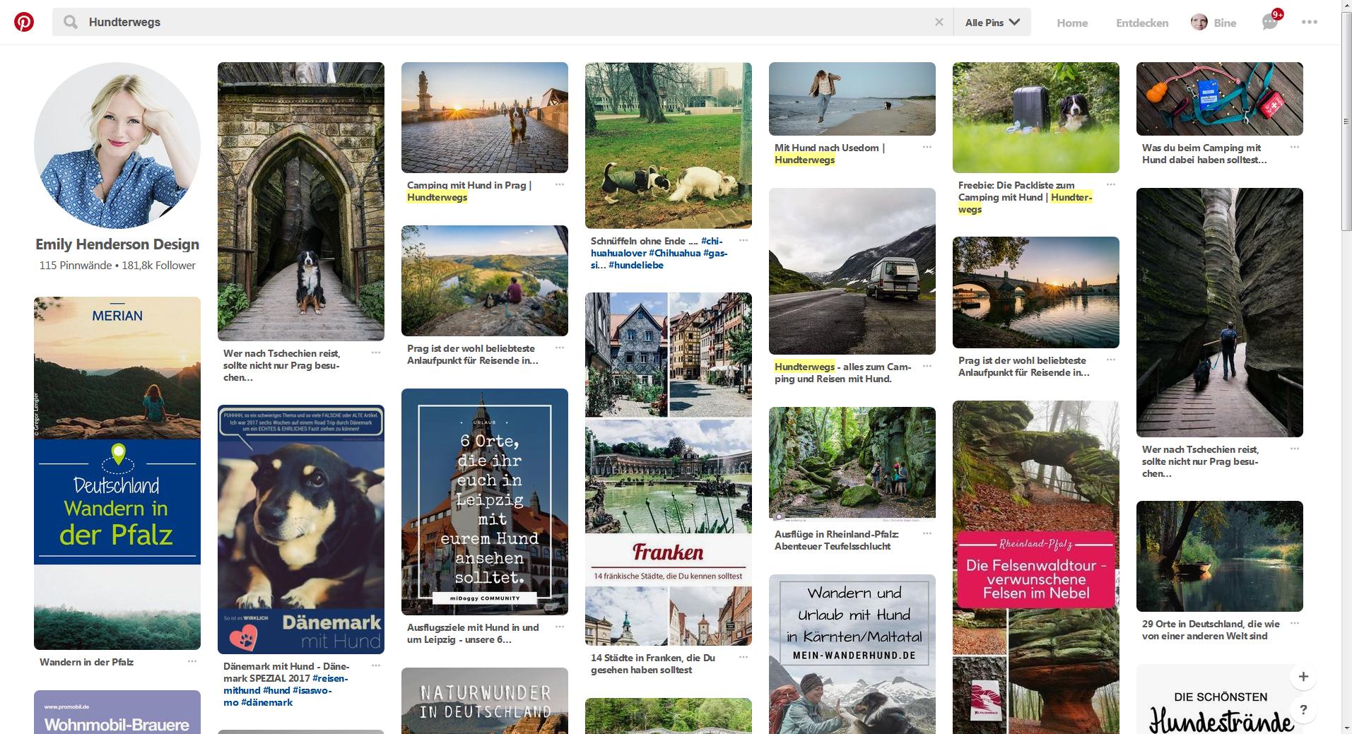 Unverzichtbarer Helfer: Pinterest.