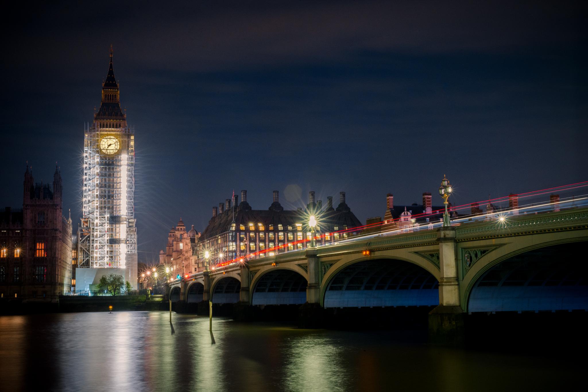 Eingezäunt zur Renovierung: Der Clock Tower (umgangssprachlich auch BigBen) in London.