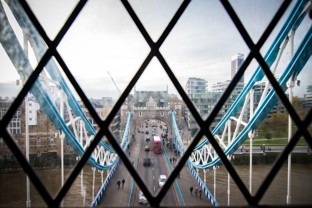 Blick aus dem Turm der Tower Bridge