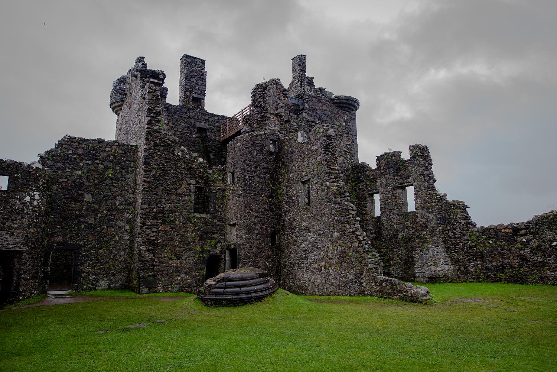 Fast nur noch die Außenmauern stehen: Kilchurn Castle.