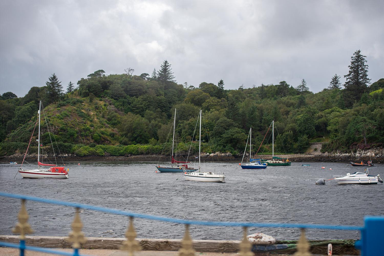Der kleine Hafen von Stornoway.