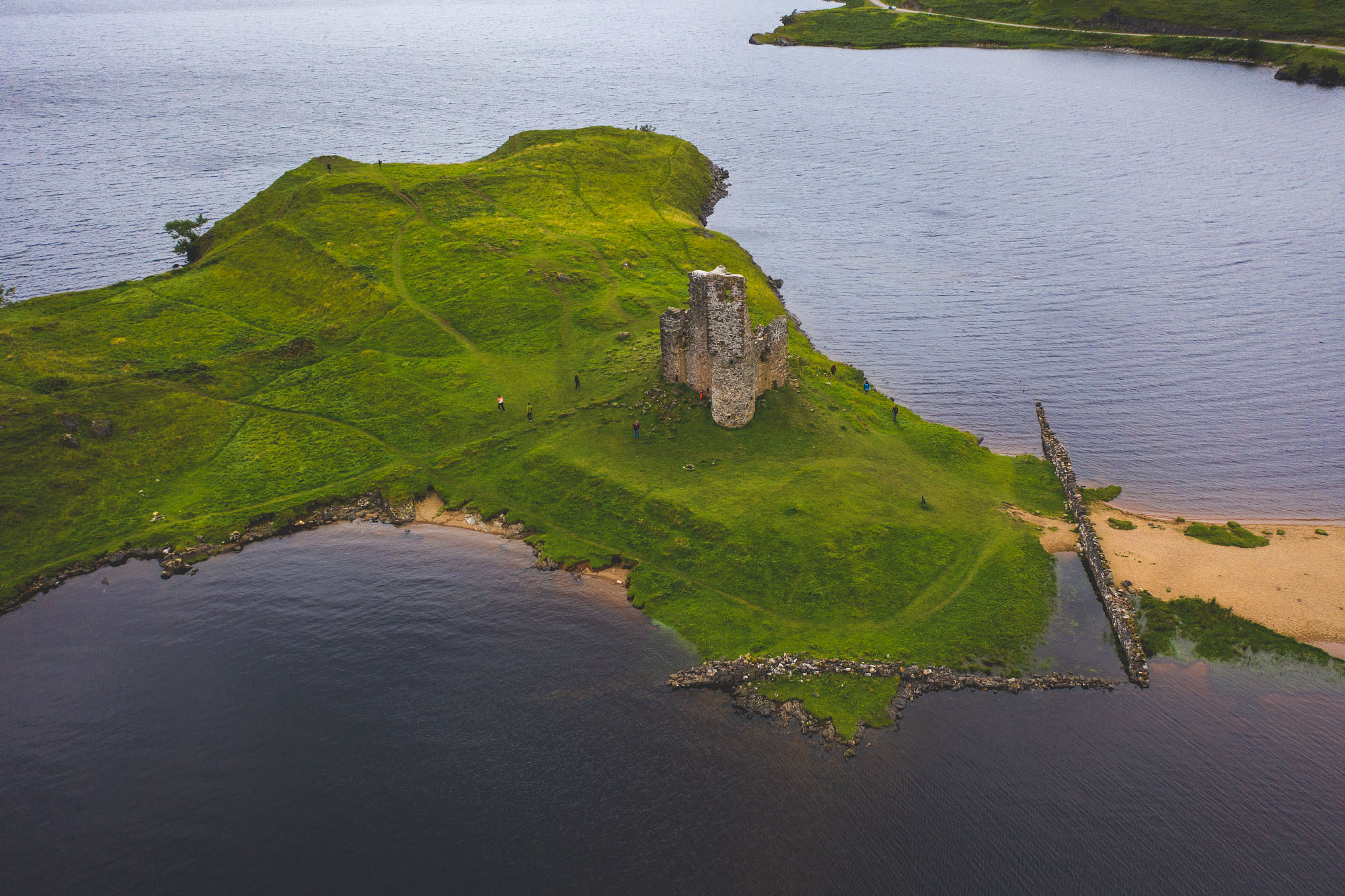Ardvreck Castle am Lake Assynt