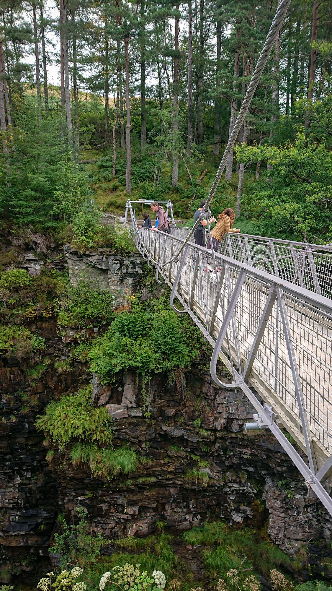 Brücke Corrieshalloch Gorge