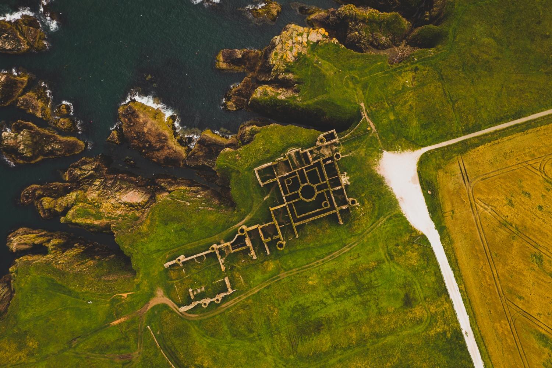 Ruine ohne Dach: New Slains Castle.
