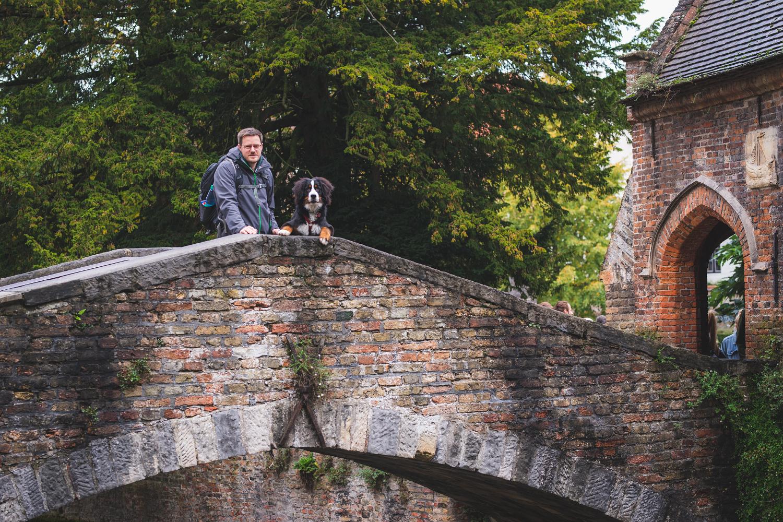 Jan und Ceeley auf der Bonifaciusbrücke