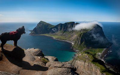 Gipfelaussicht auf Værøys Drachenschwanz