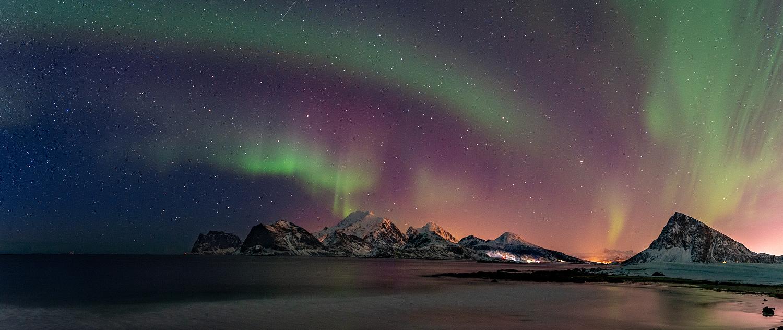Polarlichter über dem Offersøykammen